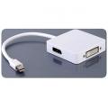 Mini Display Port adapteris 3in1